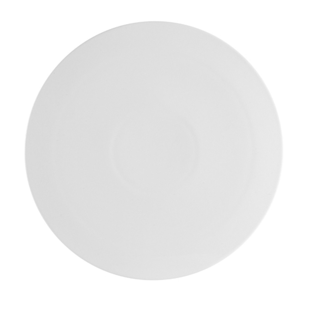 CAC China PP-3 Porcelain Round Flat Pizza Plate 10-1/2""