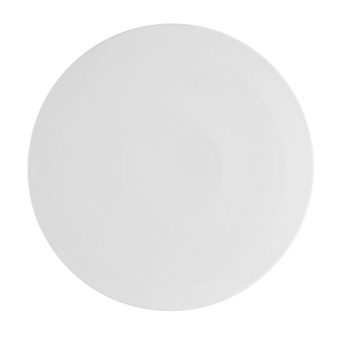 CAC China PP-2 Porcelain Round Flat Pizza Plate 14""