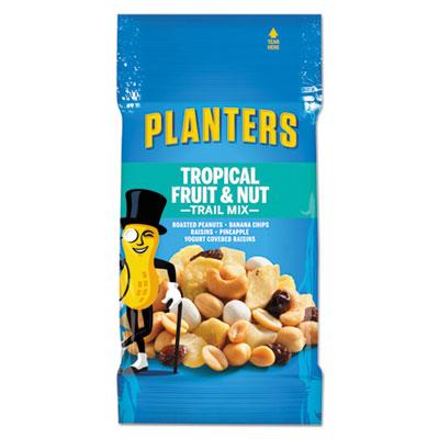 Planters Trail Mix, Tropical Fruit and Nut, 2 oz Bag, 72/Carton