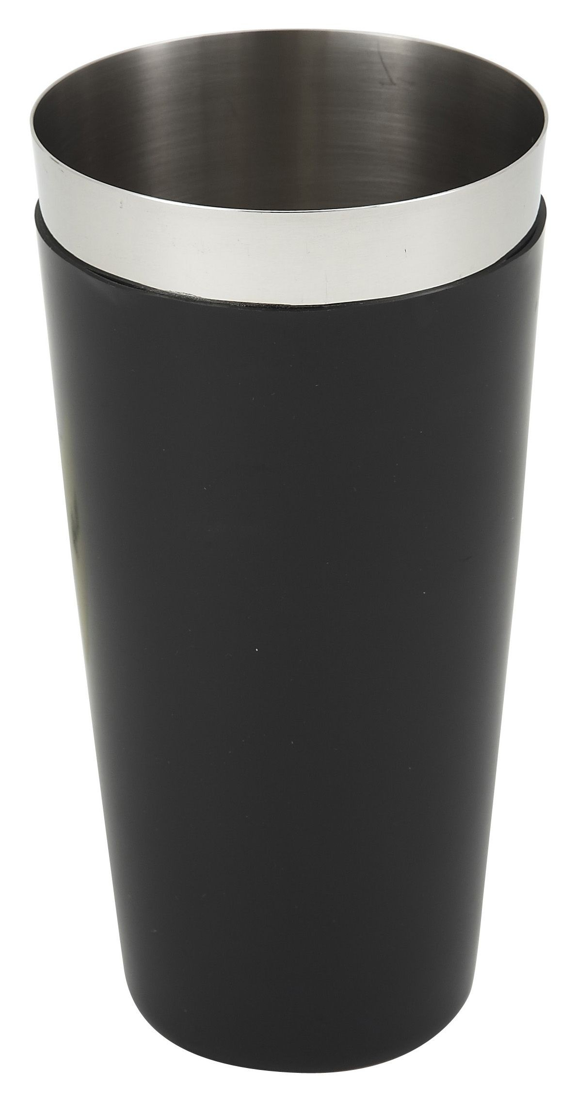 Winco BS-28P Stainless Steel 28 oz. Bar Shaker with Black PVC Coating