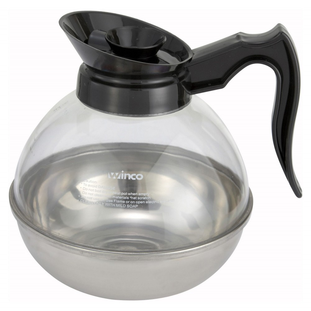 Plastic 64 Oz. Coffee Decanter With Stainless Steel Base