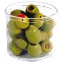 Winco CJ-7P Plastic 7 oz. Condiment Jar