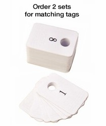 Plastic Coat Check Tags From 301-400 (One Per Set)