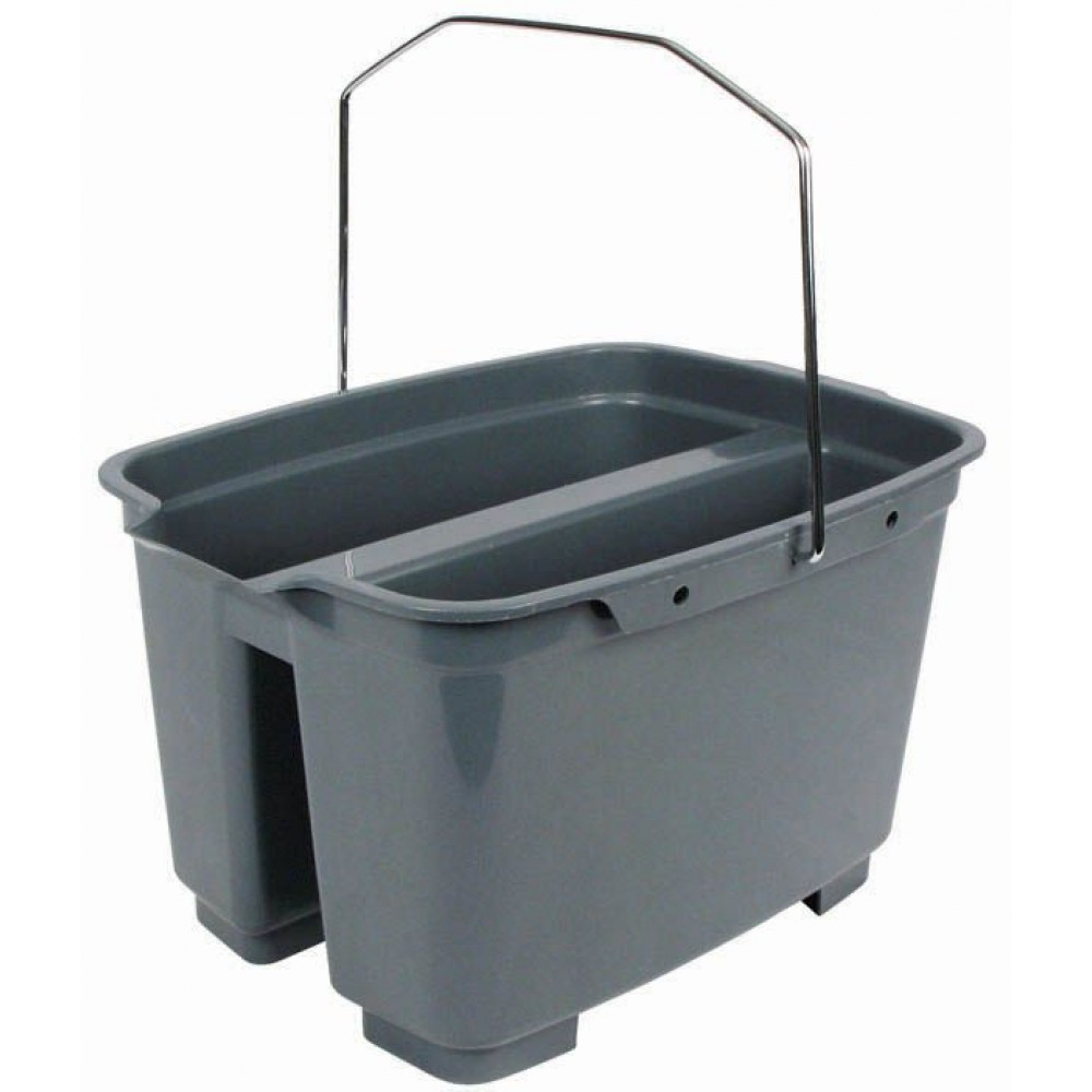 Plastic Double Pail, Gray, 19.55 Qt