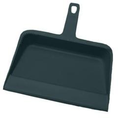 Plastic Dustpan, 12w x 12d x 4h, Black