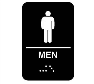 Franklin Machine Products  280-1201 Plastic Men's Accessible Restroom Sign with Braille