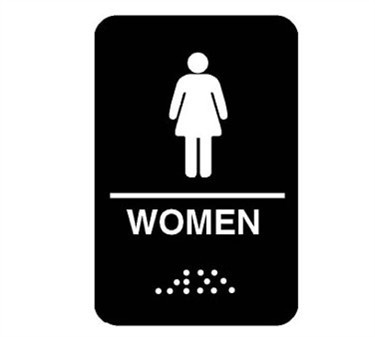 Plastic Men's Accessible Restroom Sign With Braille