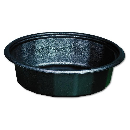 Plastic Round Microwave Safe Container Black 32 Oz