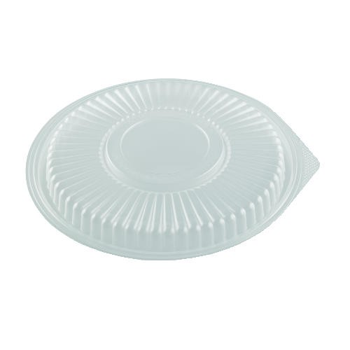 Plastic Round Microwave Safe Lid for 24 and 32 oz Containers- Clear