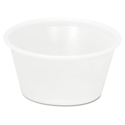 Plastic Souffle/Portion Cups, 2 oz, Translucent, 2400/Carton