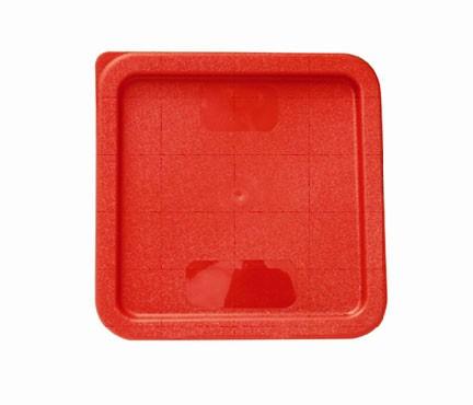 Plastic Square Cover For 6 Qt & 8 Qt Red