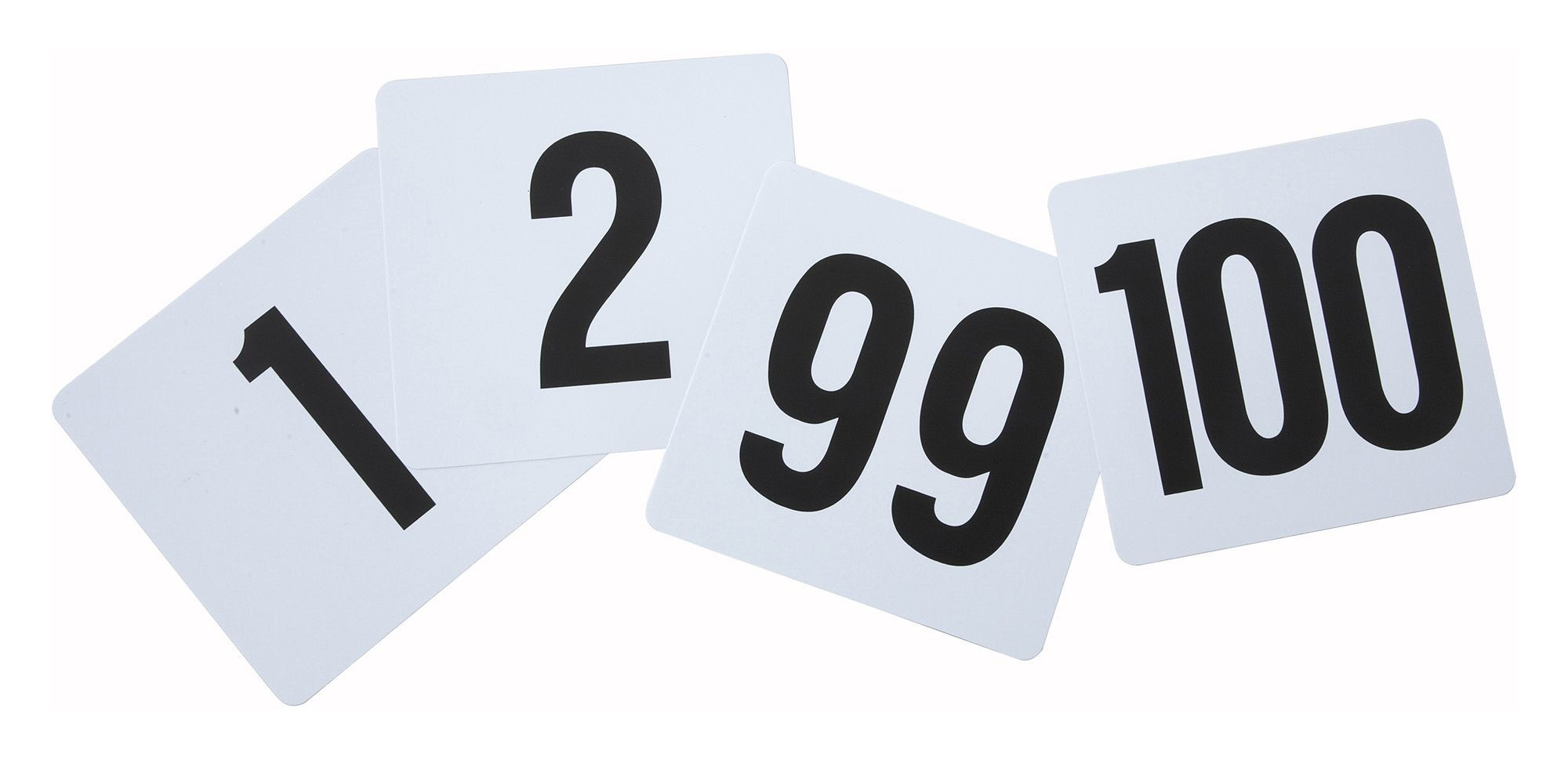 Plastic Table Numbers 1-100 Series - 4 X 3-3/4
