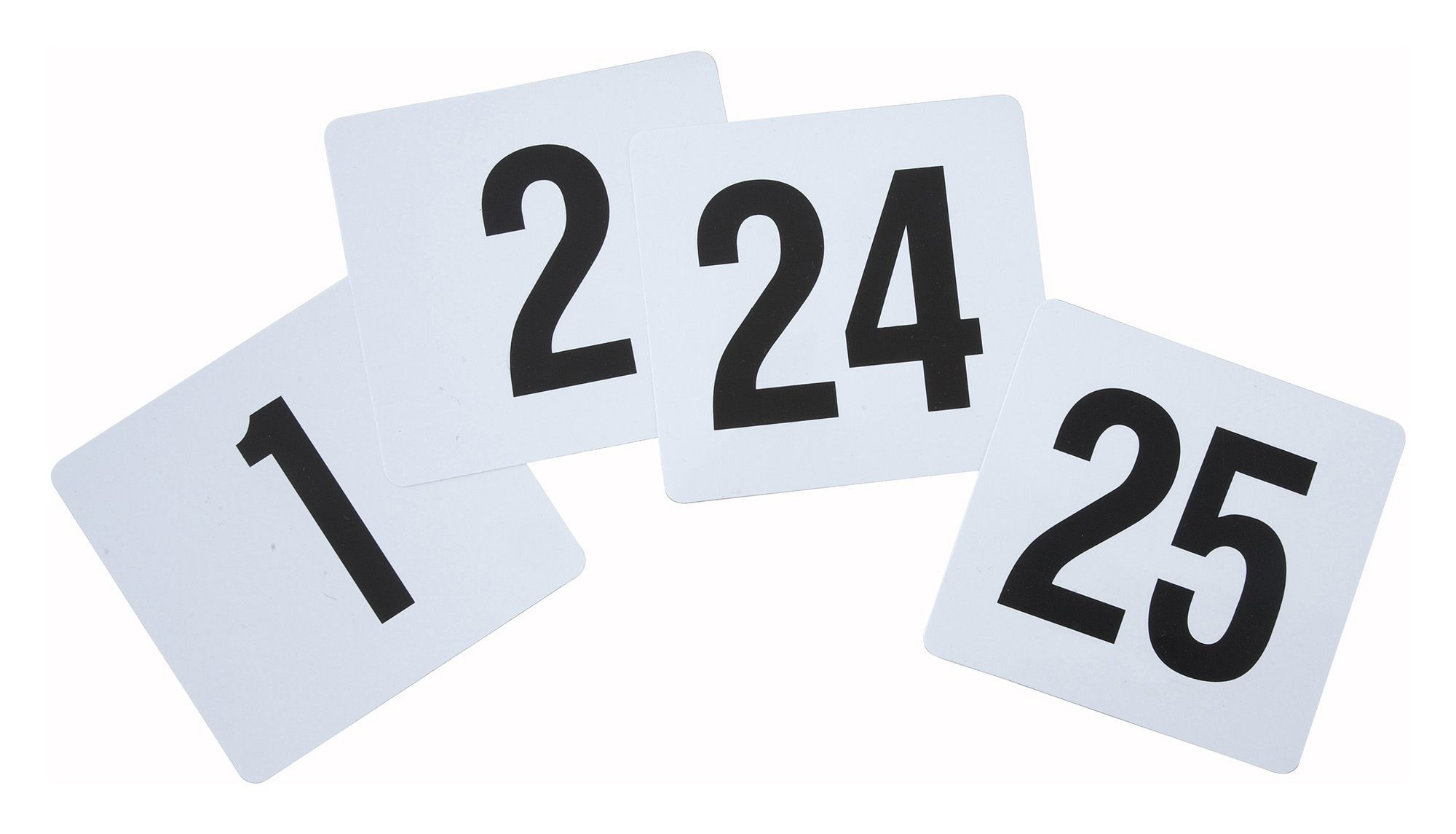 "Winco TBN-25 Plastic Table Numbers 1-25, 4"" x 3-3/4"""