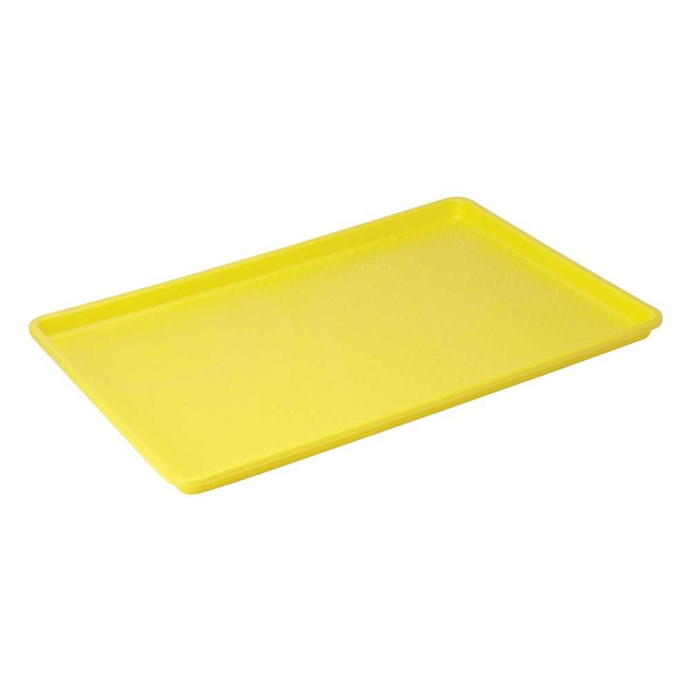 Plastic Yellow Tray, 18