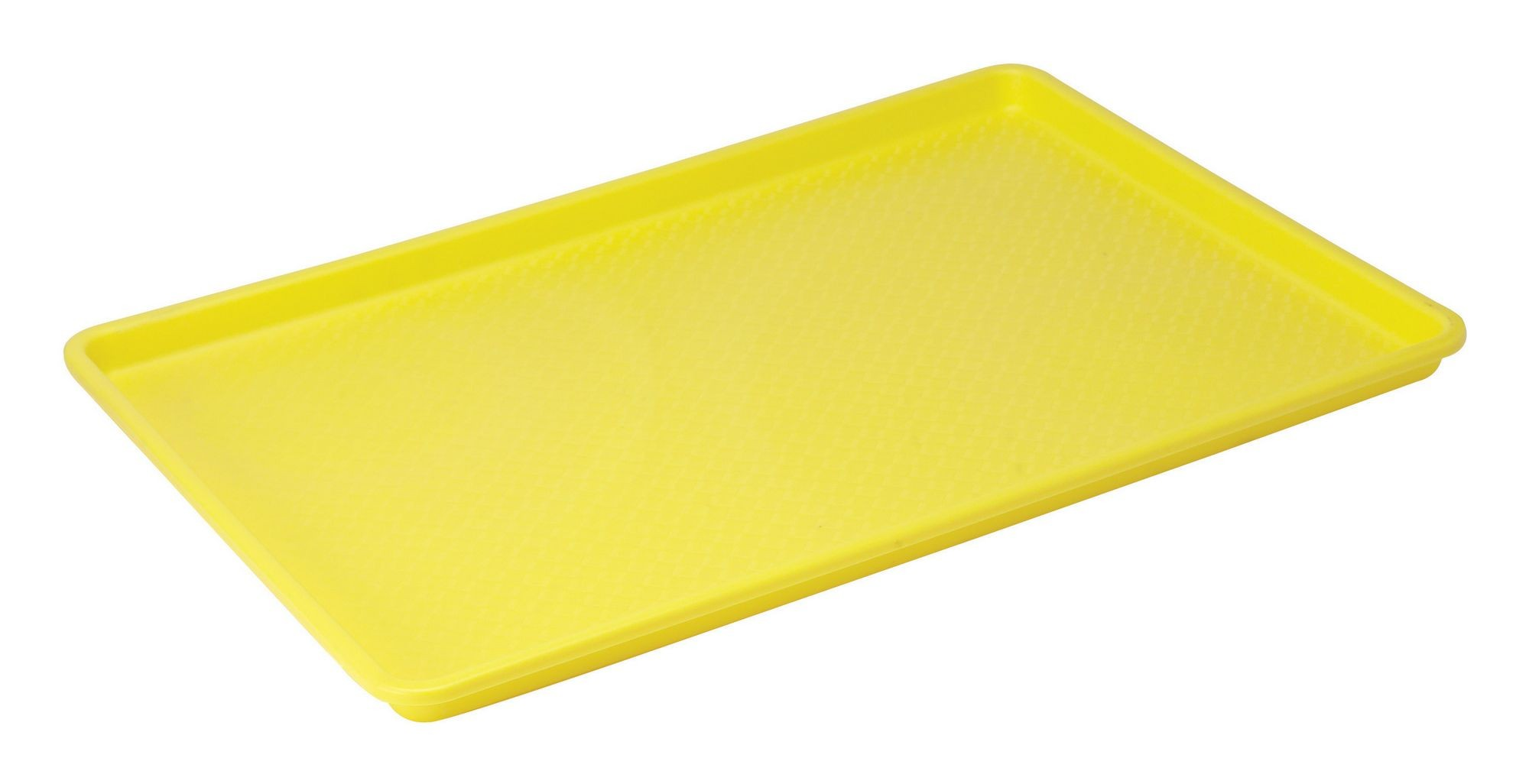 "Winco FFT-1826YL Yellow Plastic Fast Food Tray, 18"" x 26"""