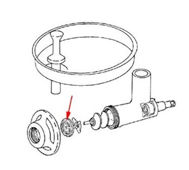 Franklin Machine Products 205-1004 Meat Grinder Plate  1/4