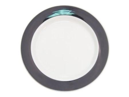 "CAC China R-8-BLK Rainbow Black Plate 9"""