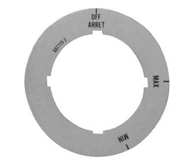 Franklin Machine Products  229-1093 Plate Dial (Off/Max/Min)