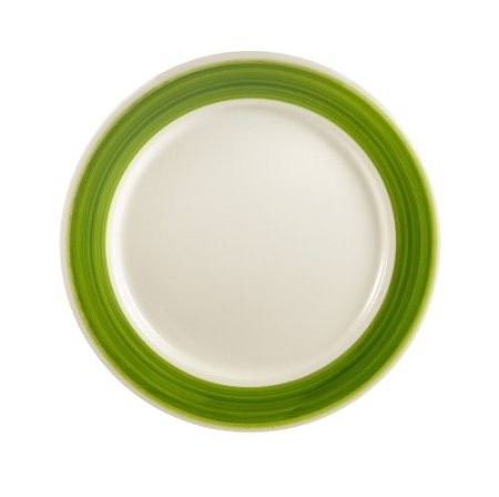 CAC China R-21-GREEN Rainbow Rolled Edge Green Plate 12""