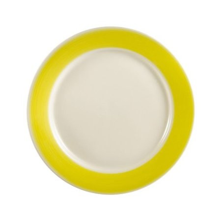 """CAC China R-6-Y Rainbow Yellow Rolled Edge Plate 6 1/2"""""""