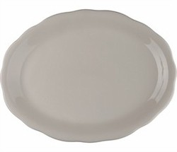 "CAC China SC-14 Seville Scalloped-Edge Oval Platter 12 5/8"" x 9 1/4"""