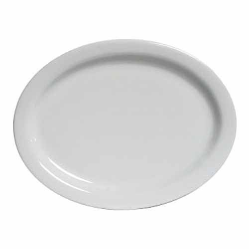 Platter - Bright White, Narrow Rim China (10