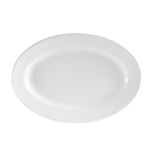"CAC China RCN-33 Clinton Rolled Edge Oval Platter, 7"" x 4-1/2"""