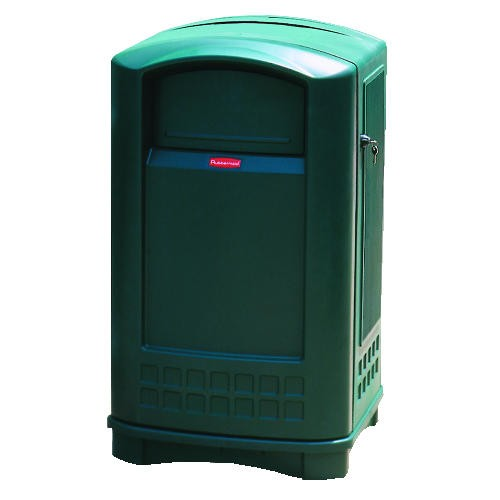 Plaza Container, 50 Gallon, Dark Green