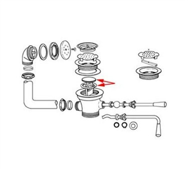 Franklin Machine Products  100-1004 Plunger With O-Ring, for Lever and Twist Handle Wastes