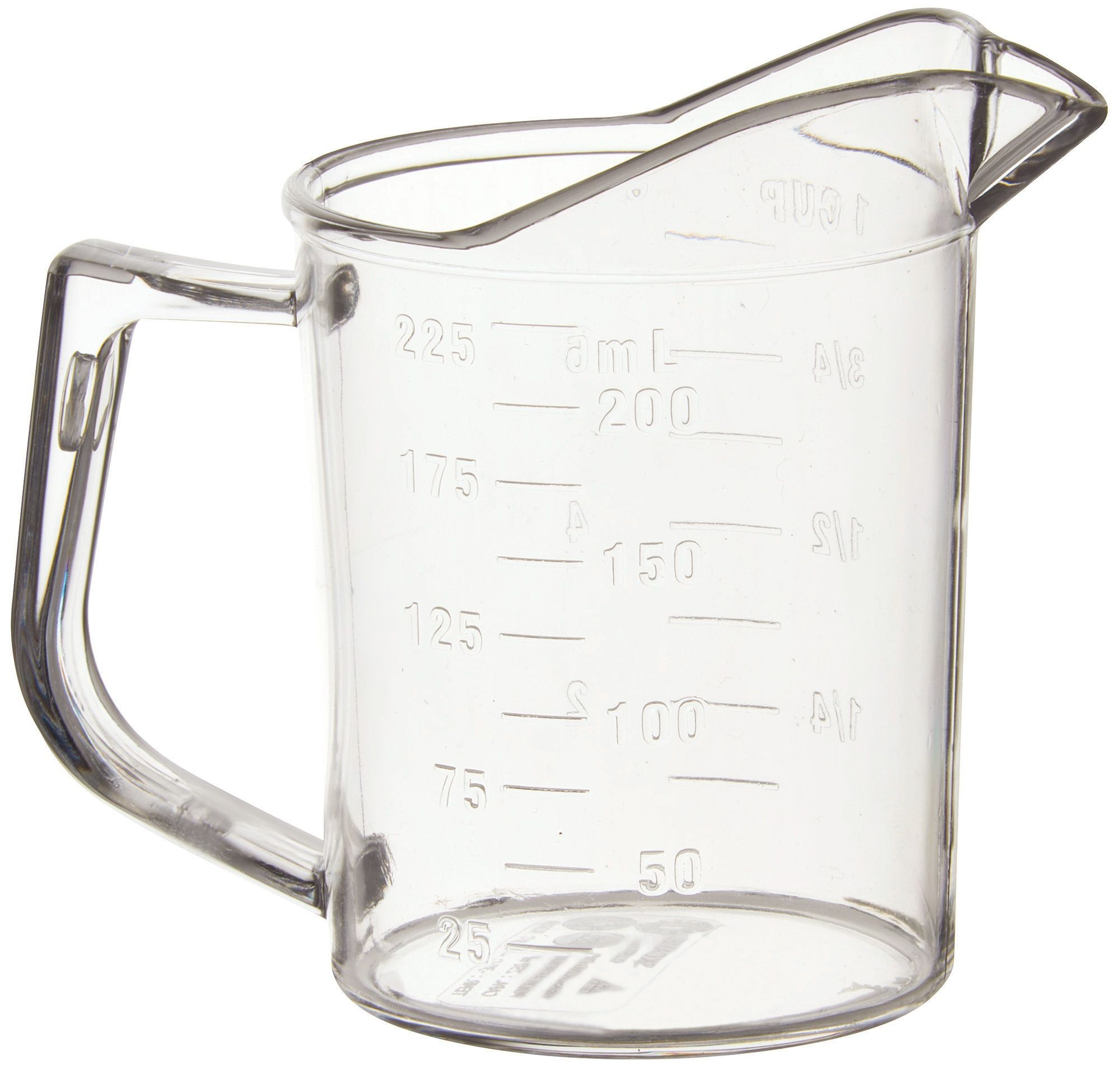 Winco PMU-25 Polycarbonate 1 Cup Measuring Cup