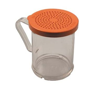Franklin Machine Products  247-1177 Polycarbonate 10 oz. Medium-Ground Salt/Pepper Shaker & Lid