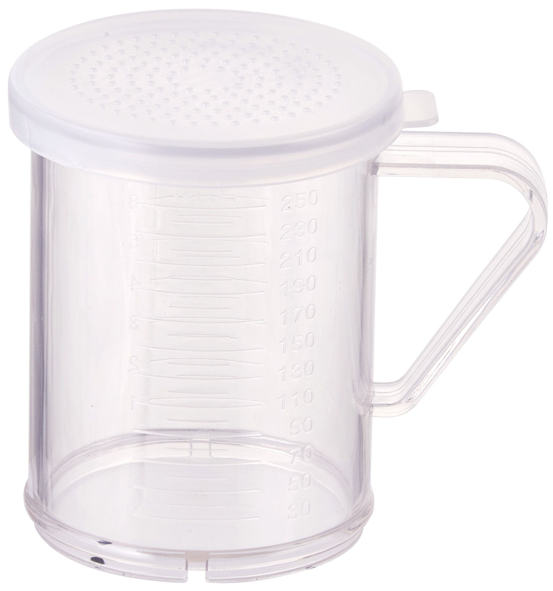 Winco PDG-10 Polycarbonate Shaker/Dredge with Three Snap-On Lids 10 oz.