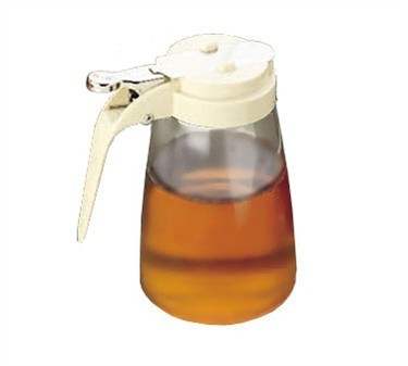 TableCraft P10A Polycarbonate 10 oz. Syrup Dispenser with Almond ABS Top