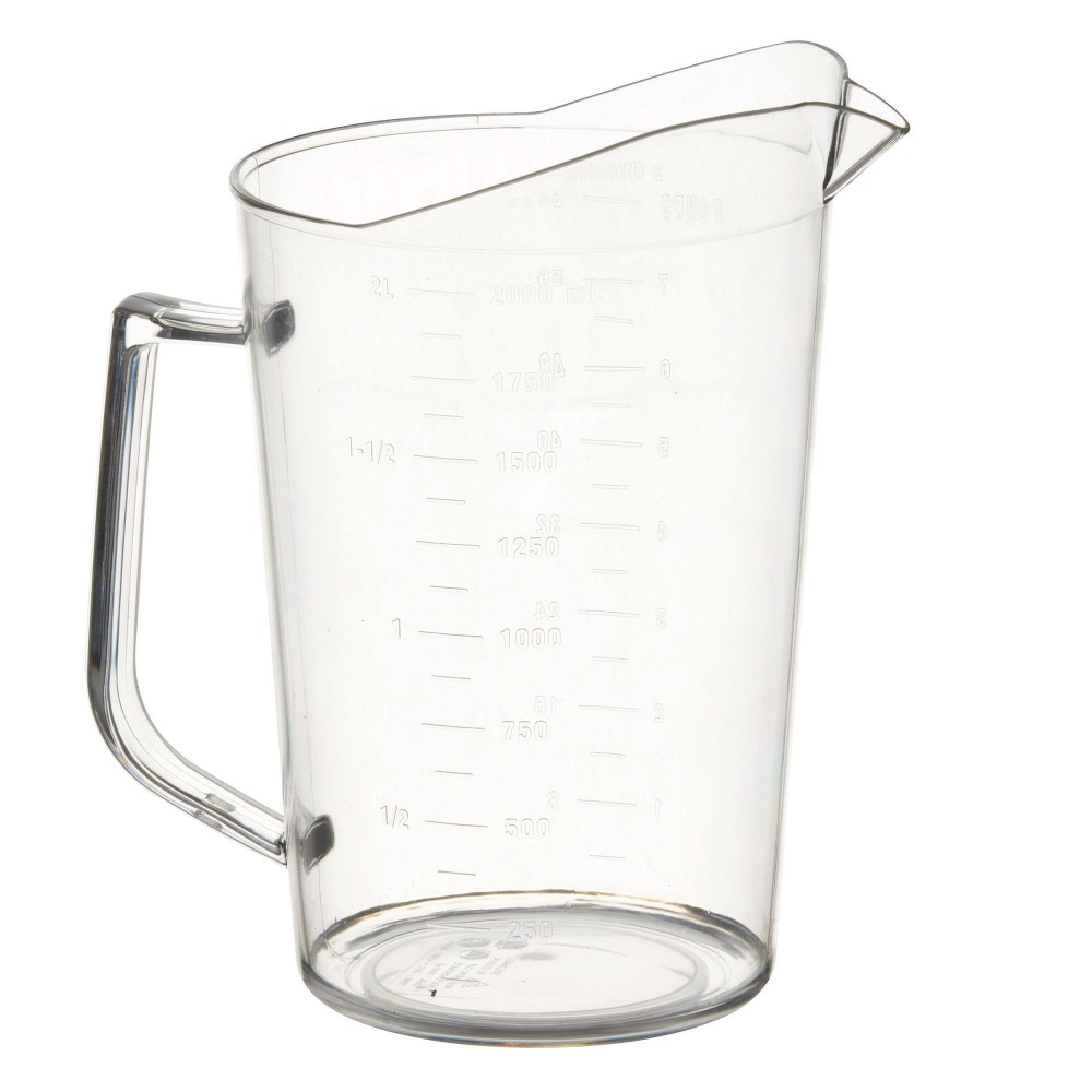 Winco PMU-200 Polycarbonate 2 Qt. Measuring Cup