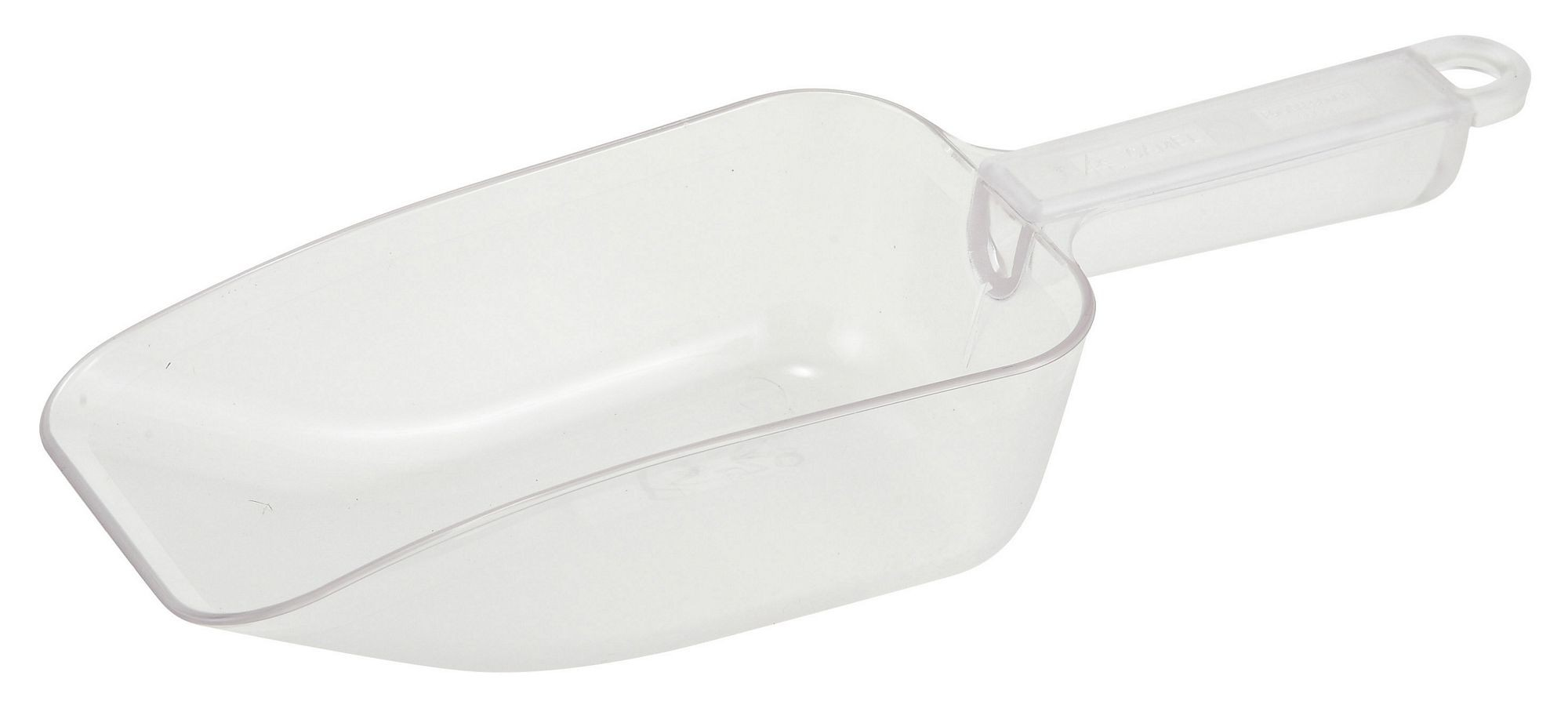 Winco PS-20 White Plastic 20 oz. Utility Scoop