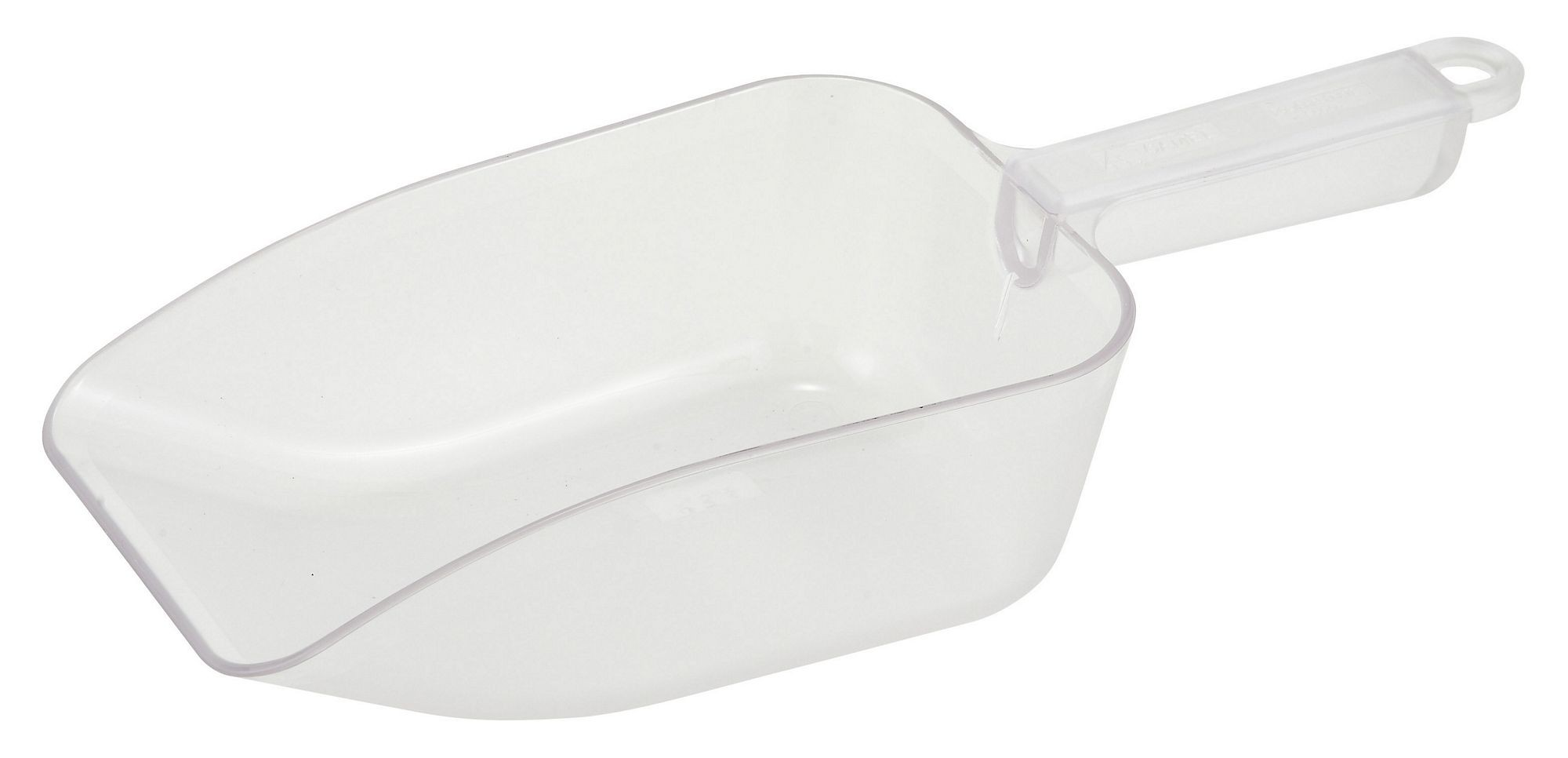 Winco PS-32 White Plastic 30 oz. Utility Scoop