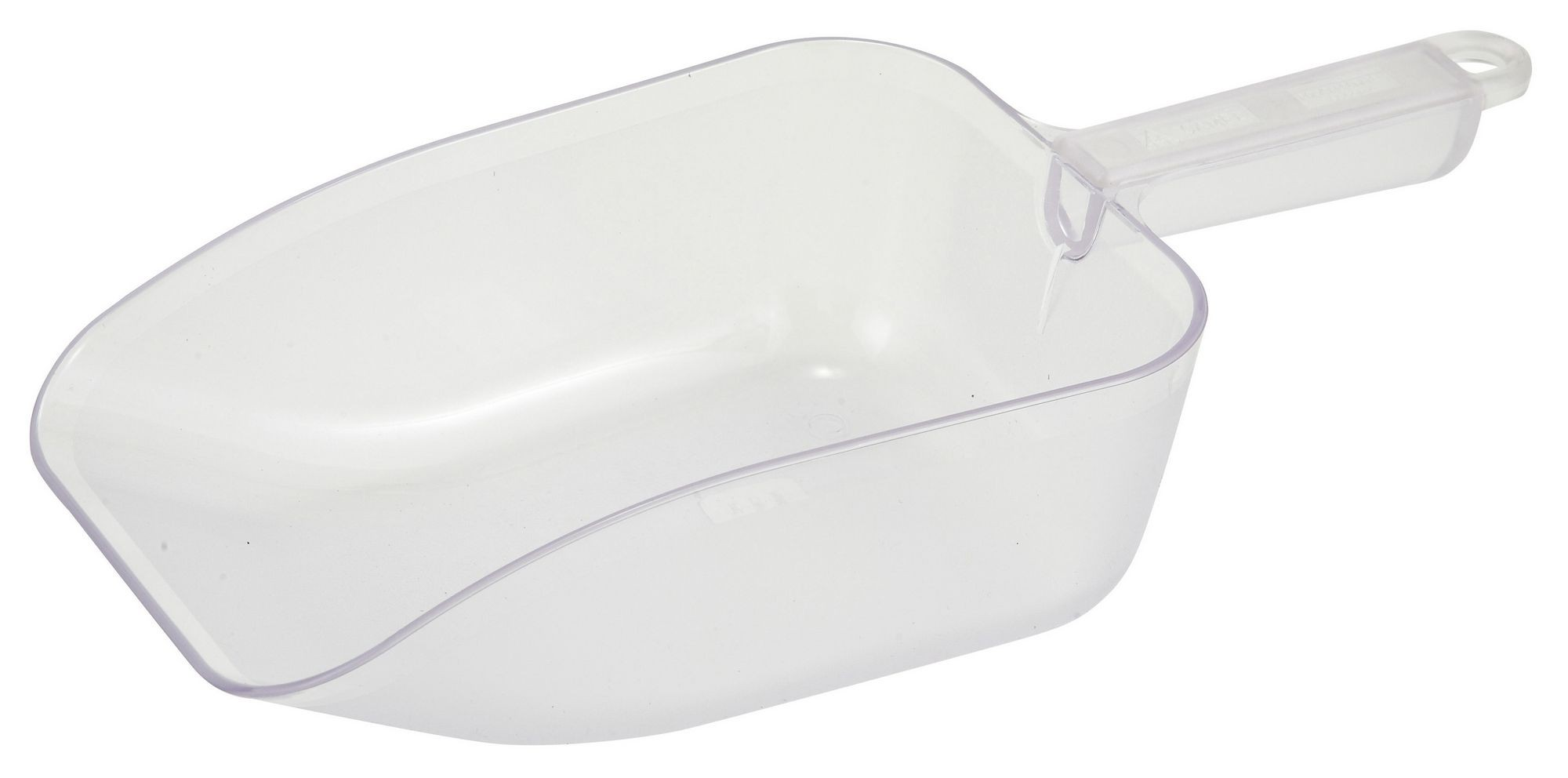 Winco PS-50 White Plastic 50 oz. Utility Scoop