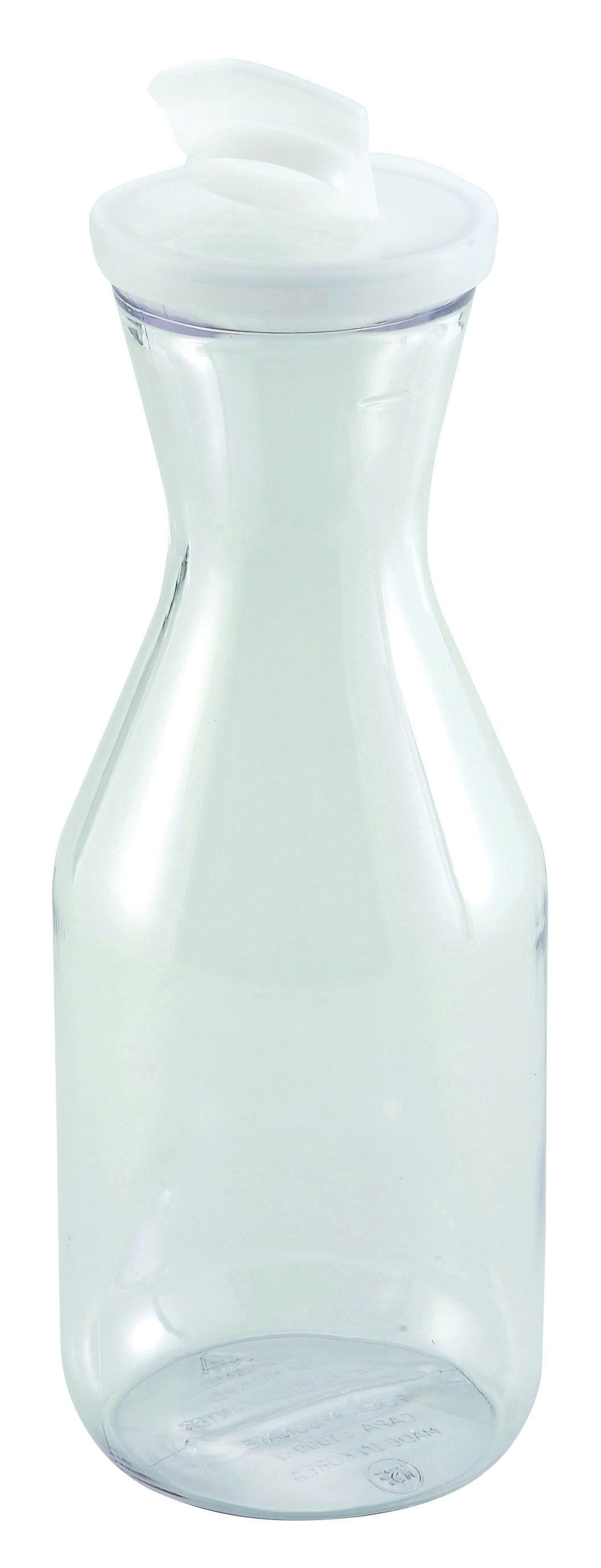 Winco PDT-10 Polycarbonate Decanter with Lid 1L