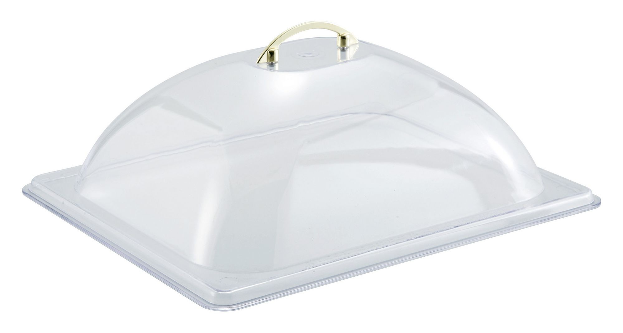 Winco C-DP2 Polycarbonate Half Size Dome Cover