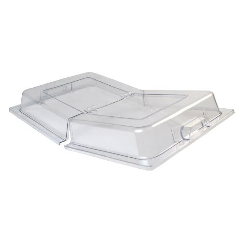 Winco C-DPFH Polycarbonate Full Size Dome Hinged Cover