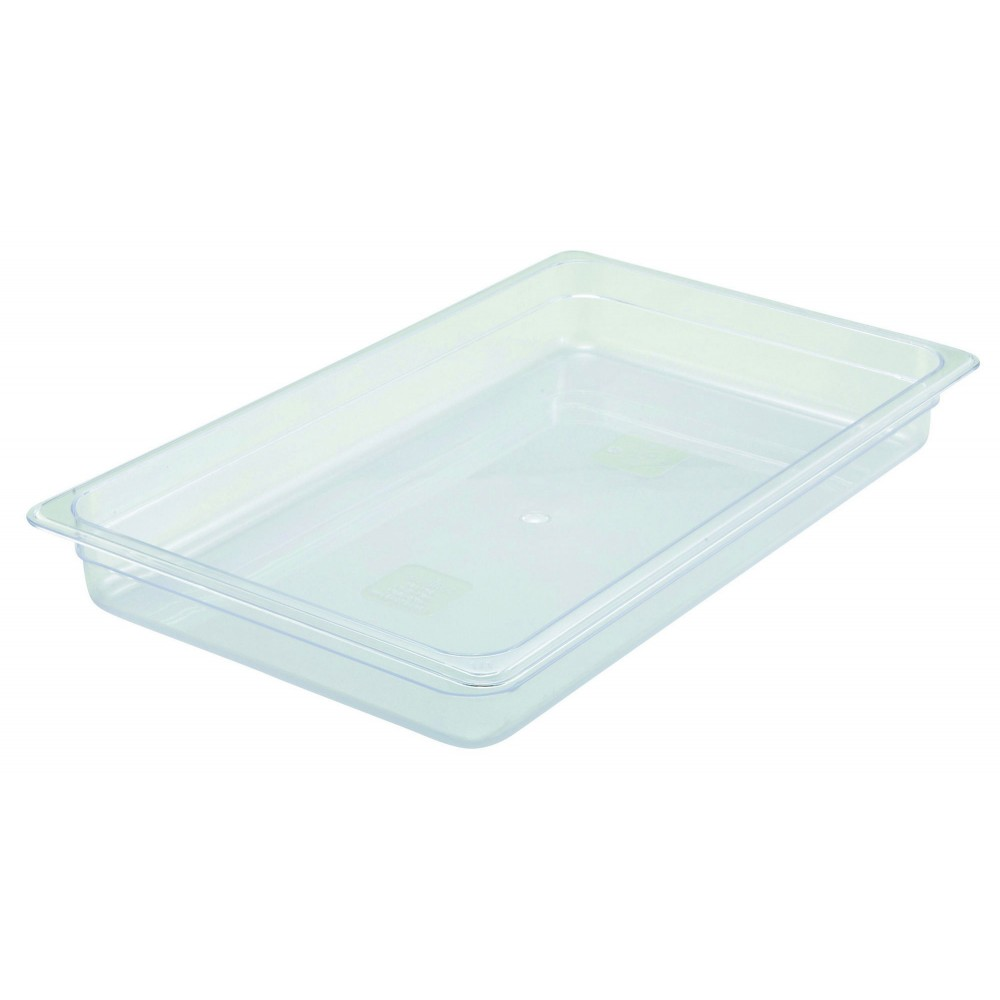 Polycarbonate NSF Full-Size Food Pan - 2-1/2 Deep