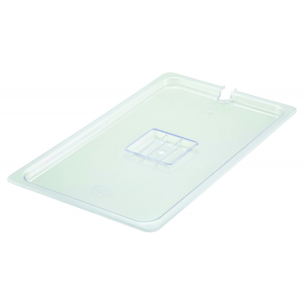 Polycarbonate NSF Full-Size Food Pan Slotted Cover