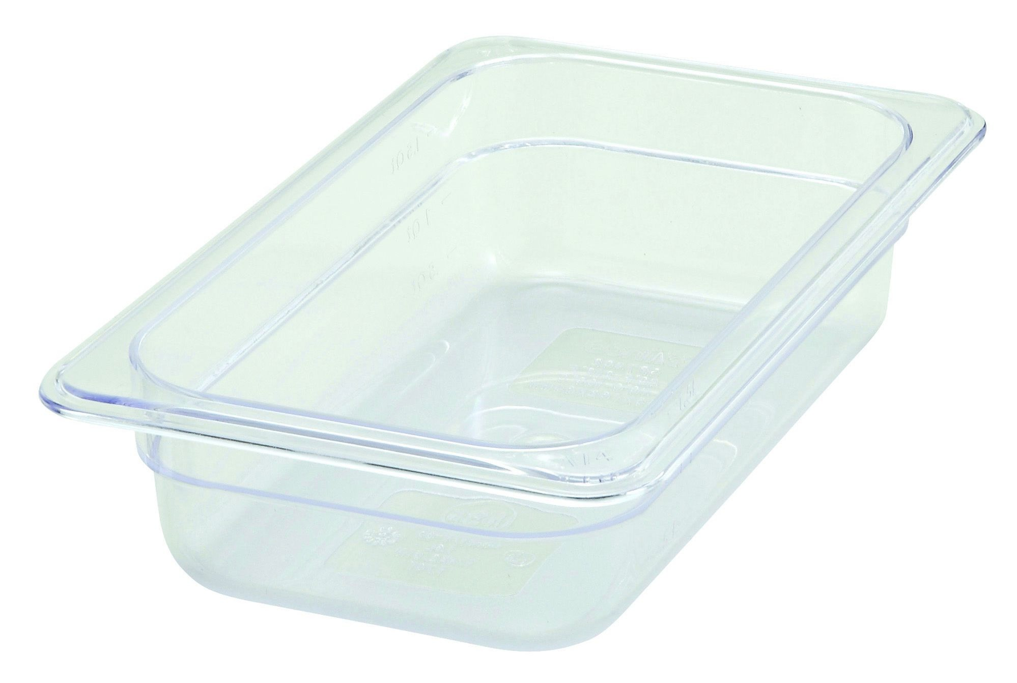 Polycarbonate NSF One-Fourth Size Food Pan - 2-1/2 Deep