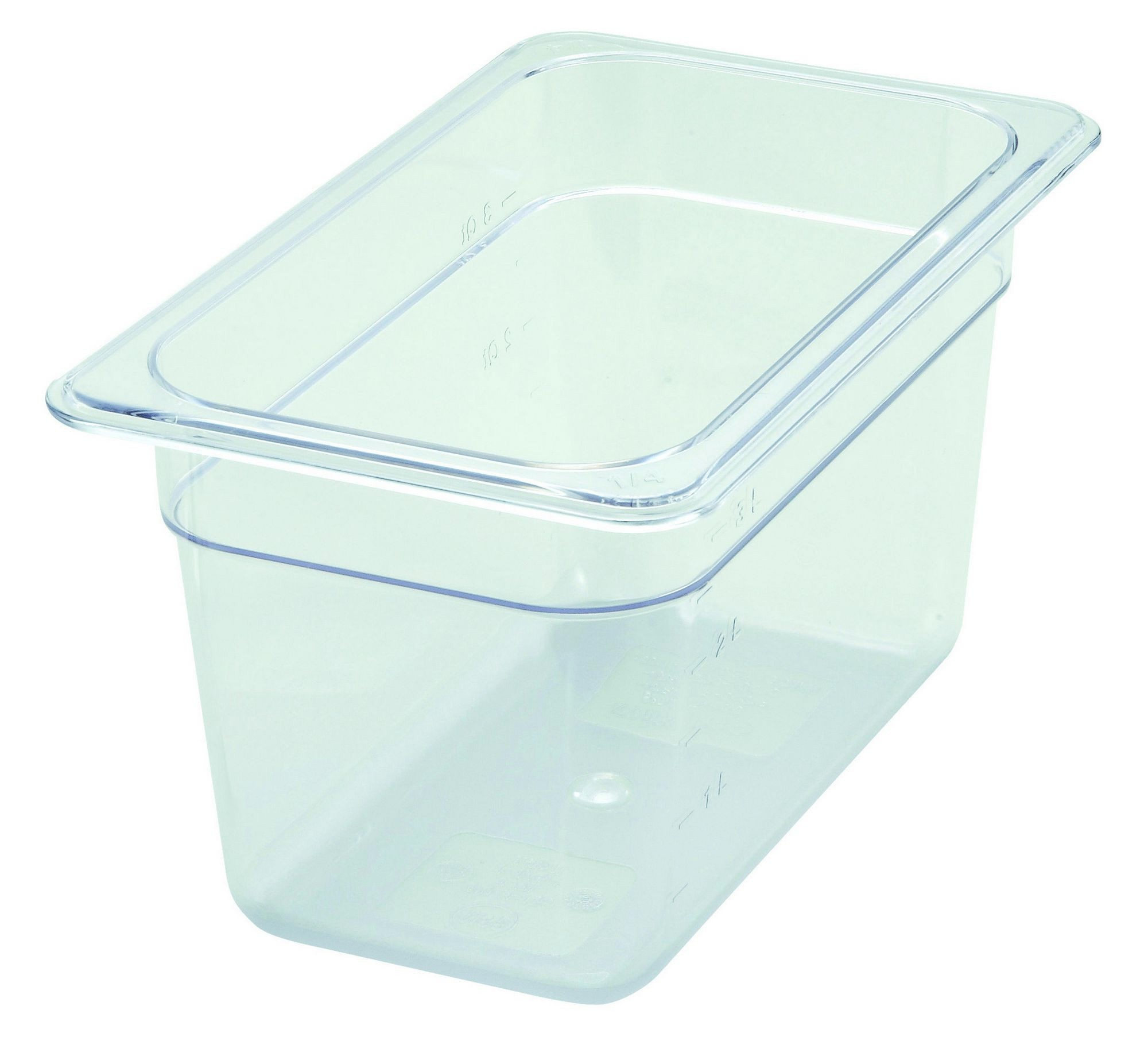 Polycarbonate NSF One-Fourth Size Food Pan - 6 Deep