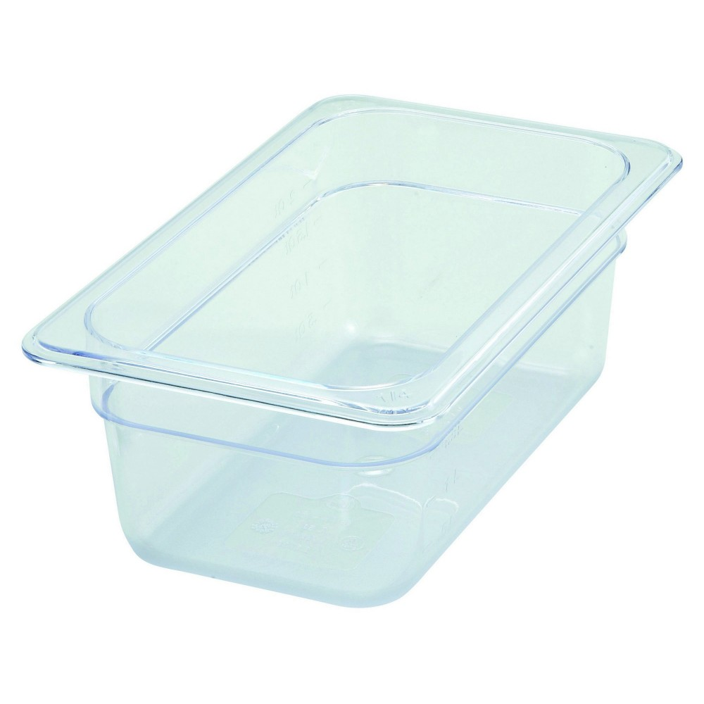 "Winco SP7404 Poly-Ware 1/4 Size Food Pan 4"" Deep"