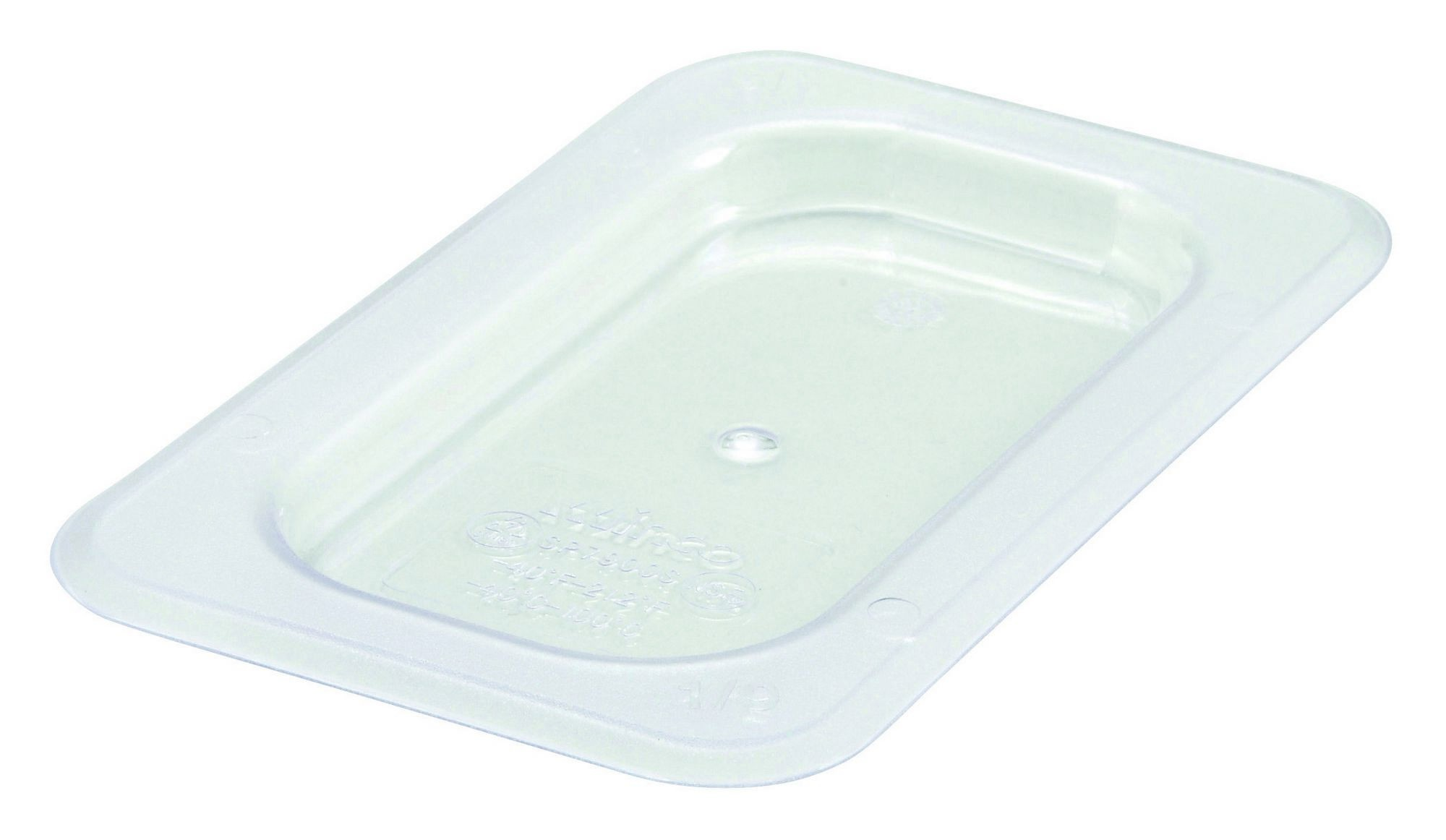 Polycarbonate NSF One-Ninth Size Food Pan Solid Cover