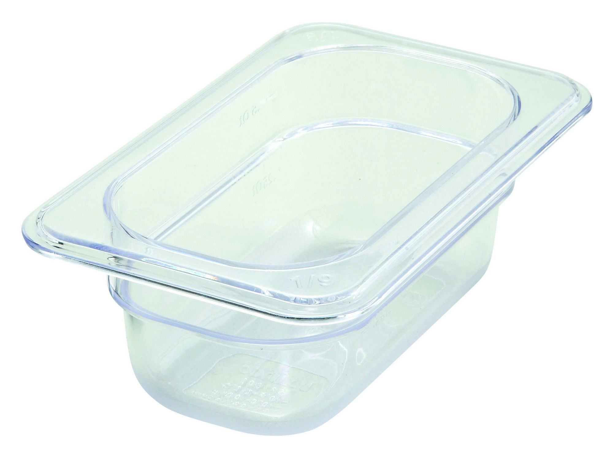"""Winco SP7902 Poly-Ware 1/9 Size Food Pan 2-1/2"""" Deep"""