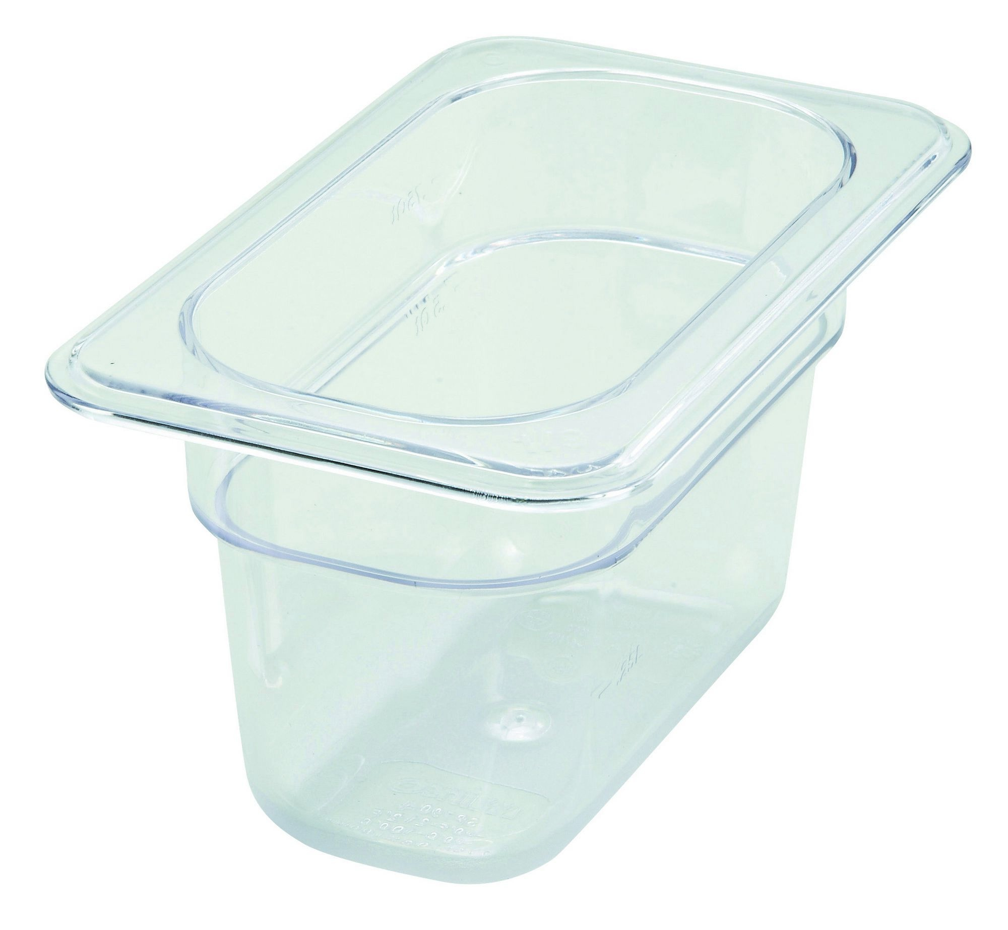 "Winco SP7904 Poly-Ware 1/9 Size Food Pan 4"" Deep"