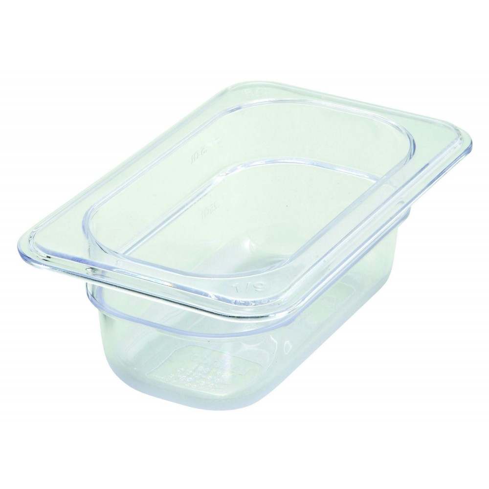 "Winco sp7902 Poly-Ware 1/9 Size Food Pan 2-1/2"" Deep"