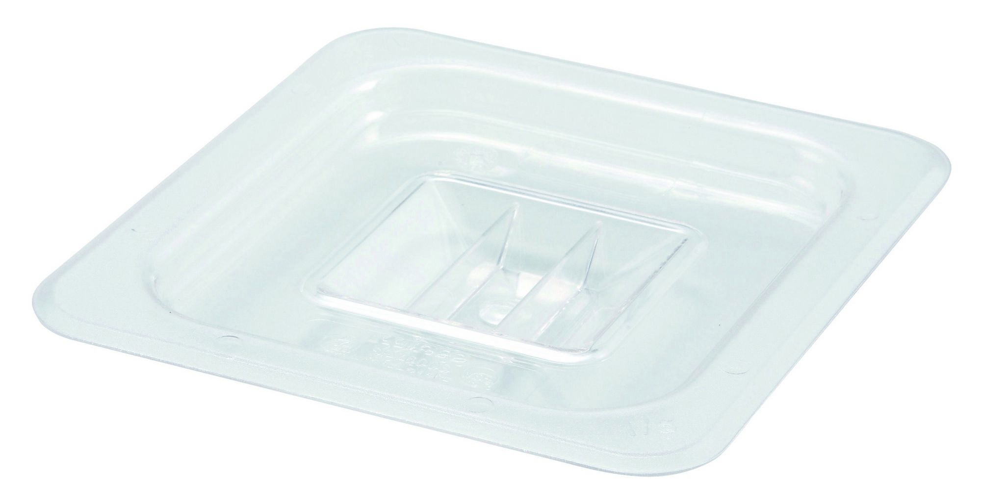 Winco SP7600S Poly-Ware Solid 1/6 Size Food Pan Cover